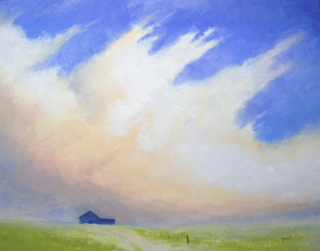 Oil Painting - Summer Clouds -Phil Morin