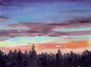 Oil Painting - Sunrise -Phil Morin